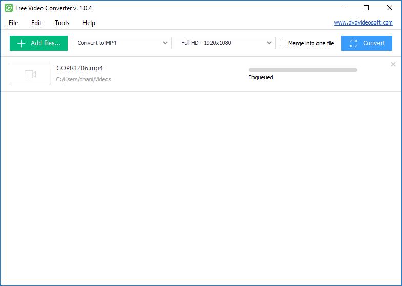 DVDVideoSoft Free Video Converter