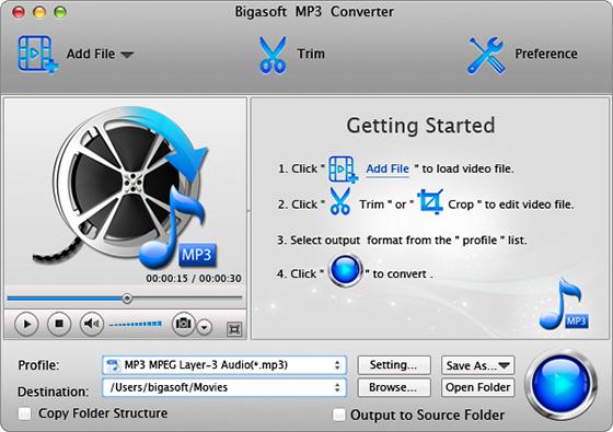 Bigasoft MP3 Converter for Mac