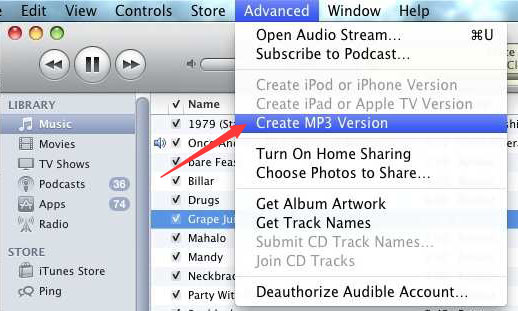 Convert WAV to MP3 with iTunes