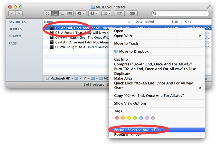 Find Your Audio Files in the Finder