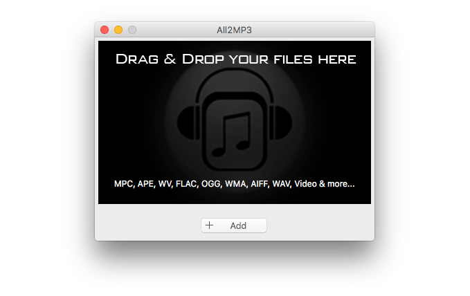 Upload Your Audio Files to All2MP3 for Mac