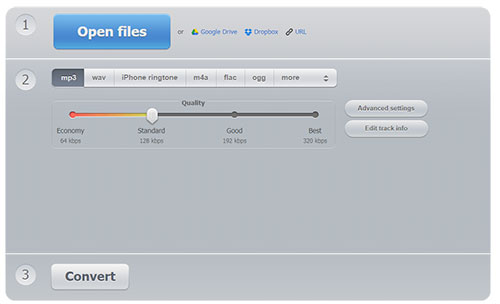 Online Audio Converter Interface