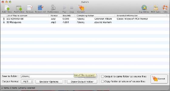 Switch MP3 Converter