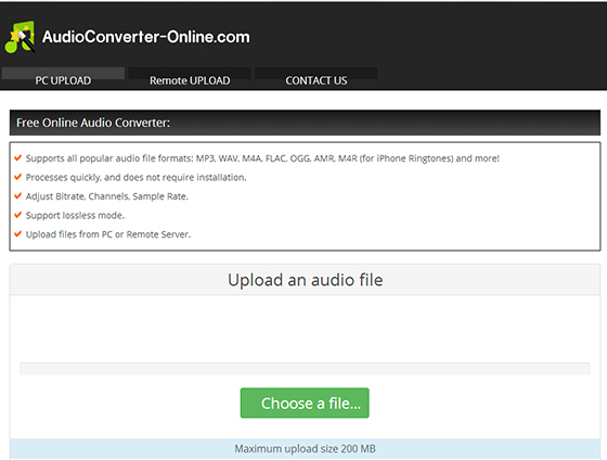 Convert WAV to MP3 with Online Audio Converter