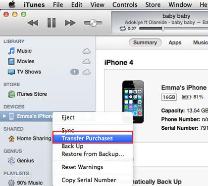 How to Transfer Music from iPhone to Mac for Free using iTunes
