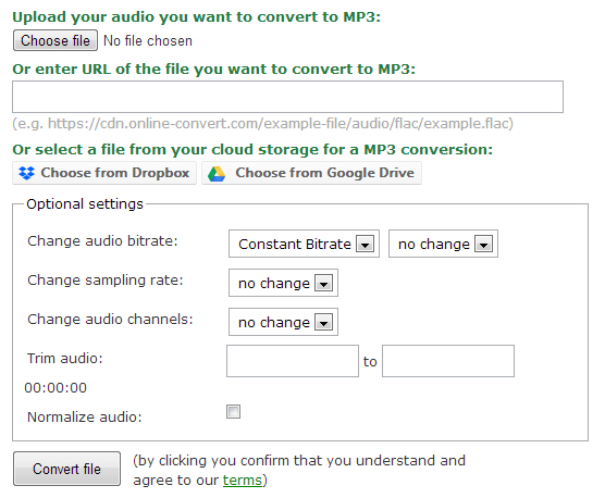 Use Online Audio Converter to Convert Audio Files