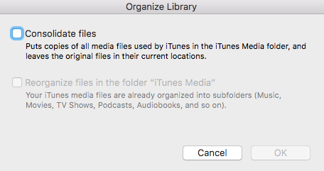 Consolidate Your iTunes Library