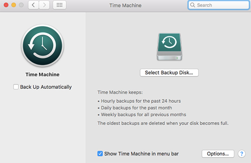 Create Backups Using Time Machine