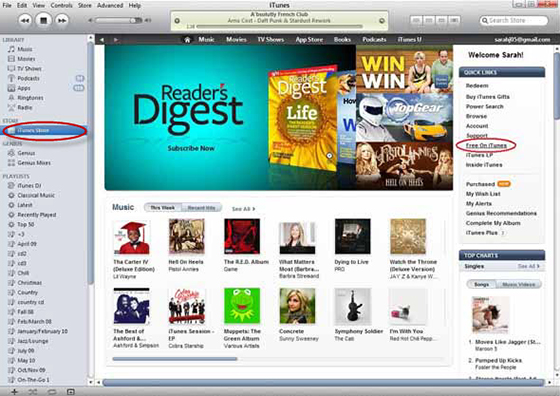 Get Free iTunes Music with Free On iTunes Feature