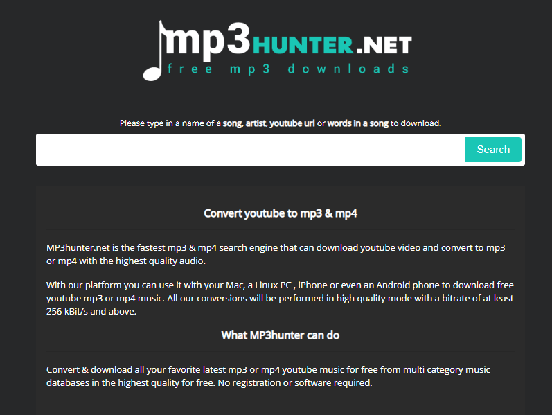 MP3 Hunter Homepage