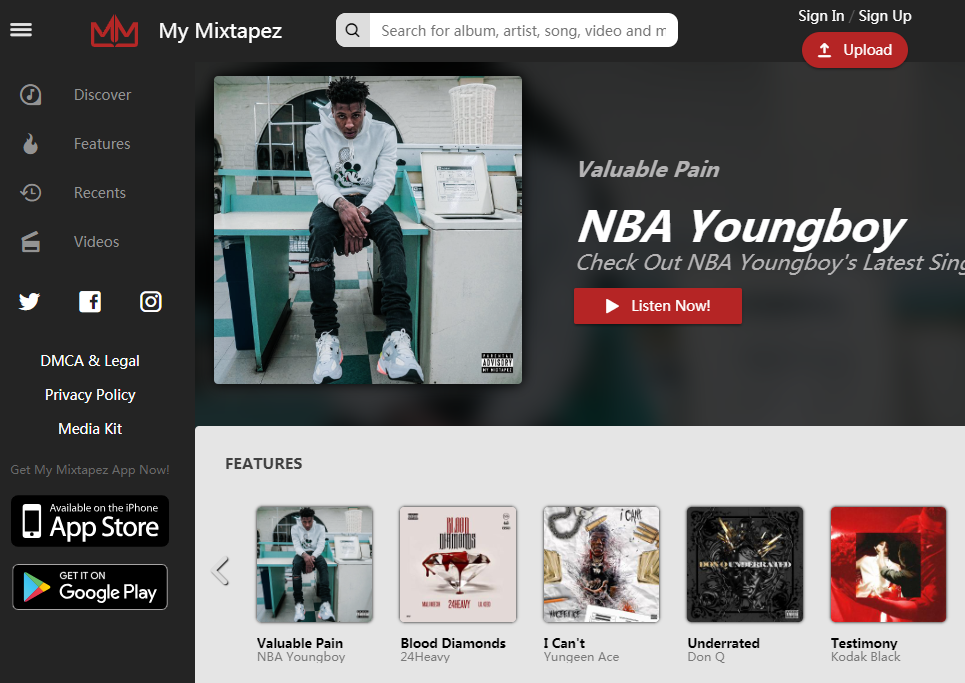 My Mixtapez Homepage