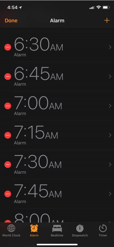 Choose an Alarm to Edit