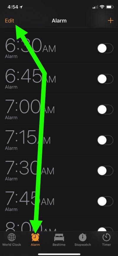 Edit Alarm